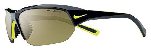 Nike Men's Skylon Ace Rectangular Sunglasses, Black/Grey, 69 mm