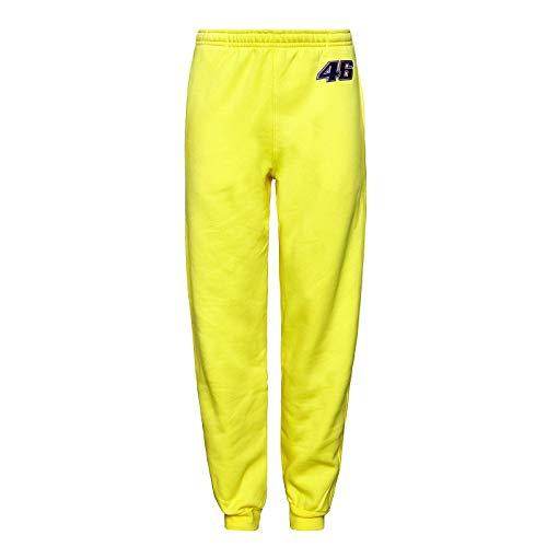 Valentino Rossi Herren-Jogginghose, gelb, Hose für Trainingsanzug, Herren, gelb