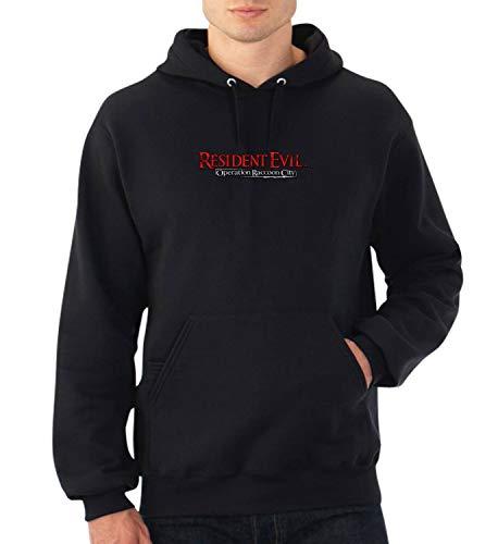 Resident Evil Operation Raccoon City_A0122 Fan Art Hoodie Pullover Sweater Present Weihnachten para Ella él Christmas Christmas XL Black Hoodie