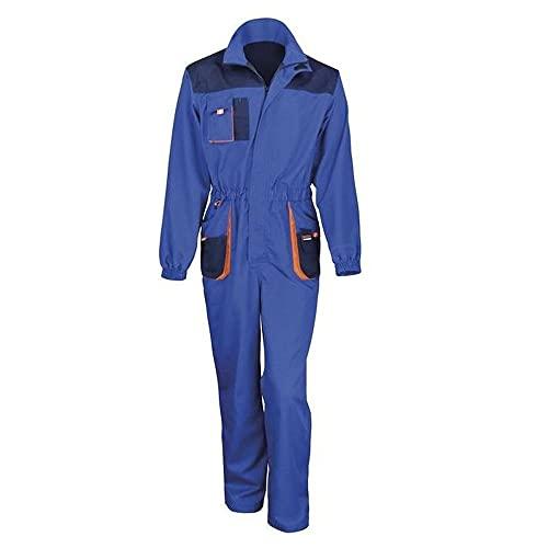 Result R321X, Work-Guard Lite Tuta Unisex-Adulto, Reale/Marina/Arancione, L