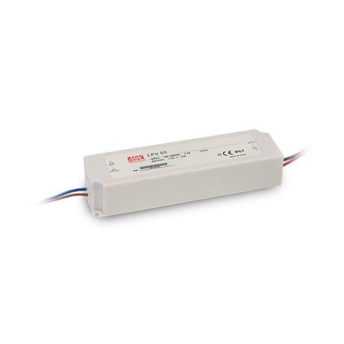 Preisvergleich Produktbild Isolicht LED Trafo MW LPV 24V / DC,  0-60W,  IP67