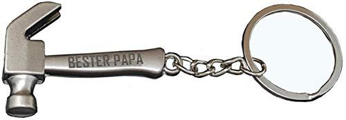 Geschenk für Papa : Gravierter Hammer Schlüsselanhänger Vater : Bester Papa – Du bist der Hammer besonderes Geburtstagsgeschenk für Männer