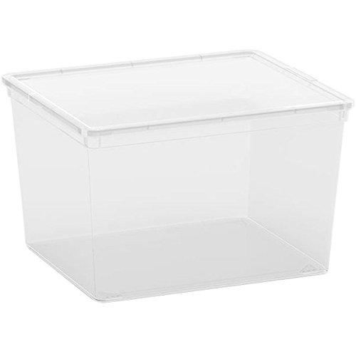 Kis 8400000 0202 01 Boîte de Rangement C Box Cube 27 litres en Transparent, Plastique, 40x34x25 cm