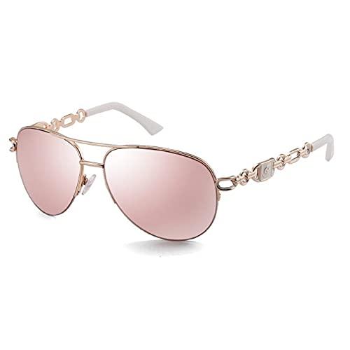 BAJIE Gafas de Sol, Gafas De Sol para Mujer, Gafas De Sol con Espejo De Color Rosa a la Moda, Gafas De Sol para Mujer, Oculos Feminino De Sol