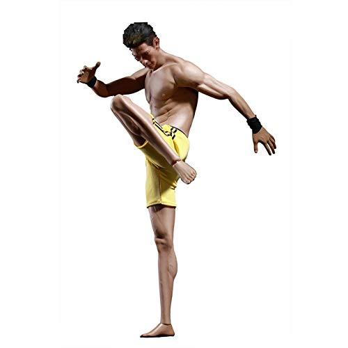 Leying 1/6 Soldado Encapsulado Músculo Cuerpo Masculino Muñeca Modelo De Boceto Figura De Acción Color Trigo
