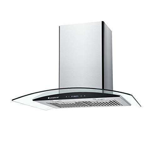 Wonderchef 60cm 1250m3/hr Chimney(Napoli, Baffle Filter,Touch Control,Steel/Grey)