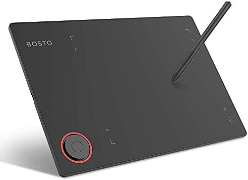BOSTO T608 ペンタブレット ペンタブ 8x6インチ 携帯接続可 電源不要ペン 8192レベル筆圧 充電不要ペン Windows6.0以上/Mac/Android6.0対応イラスト入門用「2021年最新版」
