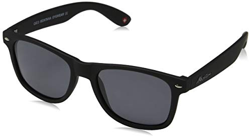 Sunoptic Unisex - Adulto Montana Occhiali da sole, Nero (Black/Grey),