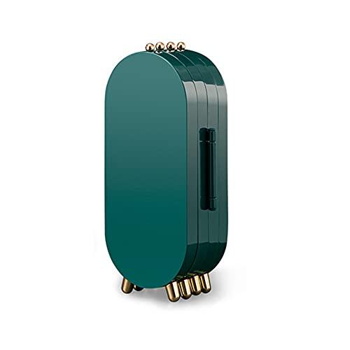 Ltervoercaern Caja de Almacenamiento de Joyas de Escritorio Pendientes Organizador Multicapa a Prueba de Polvo, Pendiente de Anillo Collar Caja de Pulsera (Verde)