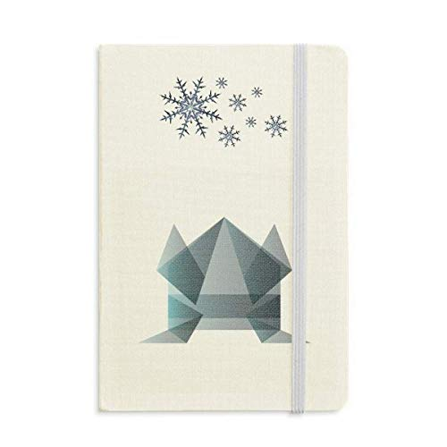 Cuaderno de forma geométrica con forma geométrica de Origami de copos de nieve de invierno