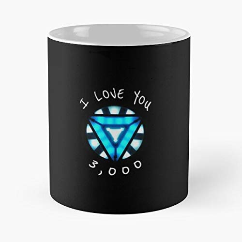 Arc Reactor I Love You 3000 Classic Mug -11 Oz Coffee - Funny Sophisticated Design Great Gifts White-situen.