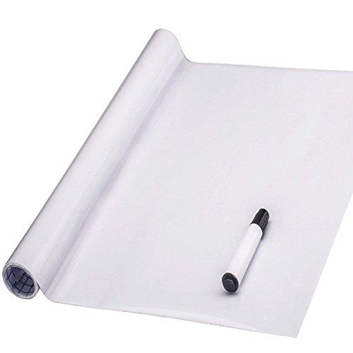 FENTIS Selbstklebende weiße Tafelfolie Wandaufkleber Whiteboard Folie Weißwandtafelfür Schule, Hause und Büro, auch für Kinder, DIY, wiederverwendbar