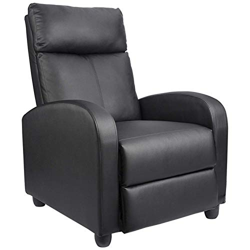 Homall Recliner Chair Padded Seat Pu Leather for Living Room Single...