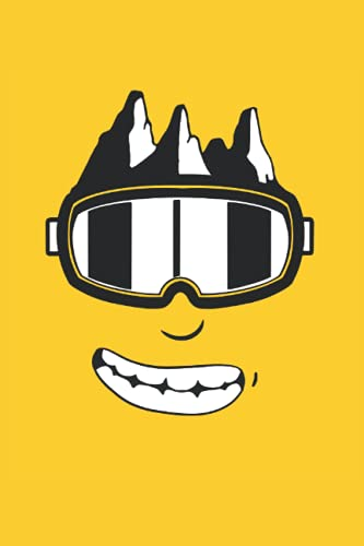 Ski Snowboard Goggles: Lined Notebook Journal, Notepad College Ruled, Medium Ruled ToDo Exercise Book, e.g. for exercise, or Diary (6