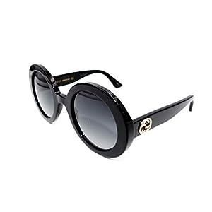 Fashion Shopping Gucci GG0319S Sunglasses 001 Black / Grey Gradient Lens 52 mm