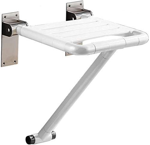 TUHFG Duschhocker Duschhocker Bad Wand Stuhl WC WC WC-Sitz Rollstuhlgerechter Klappsitz Duschstuhl Wandhocker Dusche Wandhocker Badstuhl (Farbe: weiß, Ausgabe: Basic Edition)