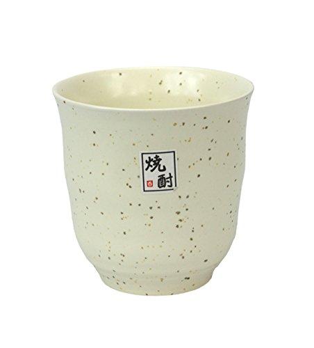 Japonais Tasse en céramique ? pour Saké, Vin de Riz ou thé vert, en céramique Crème Moucheté