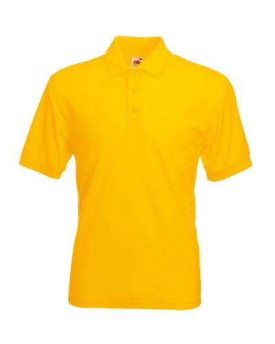 Fruit of the Loom Herren Poloshirt SS033M, Gelb-Yellow (Sunflower Yellow), S