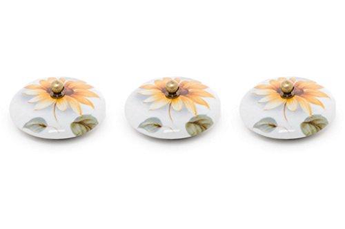 ABC_baño Tapón Lavabo de Porcelana 3 Unidades Girasol