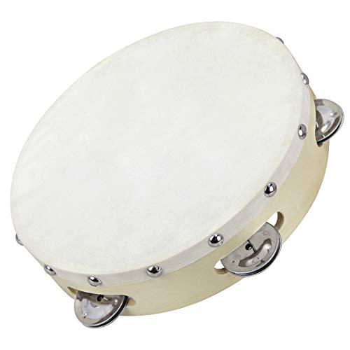 Clifton 8 inch Tambourine Drum Bell Single Row Tambourine Metal Jingles Percussion Toy Instrument Hand Tambourine