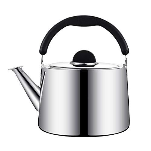 Electric oven Bouilloire à thé en Acier Inoxydable en Acier Inoxydable (Couleur : Silver, Taille : 3L)