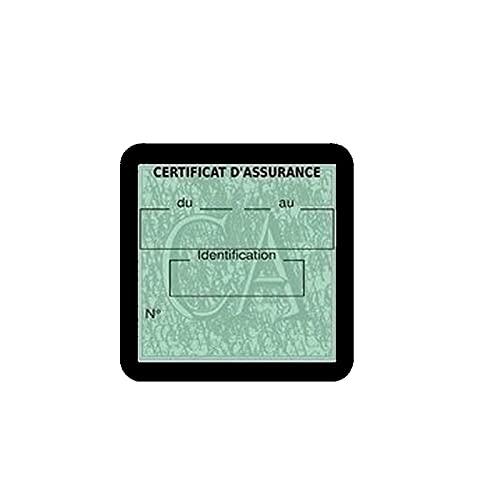 Générique Vignette Assurance Voiture Vierge Stickers Auto Retro Assurdhésifs (Noir)