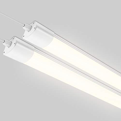 2er Feuchtraumleuchte LED Deckenleuchte 120cm, 32W 2800Lm Oeegoo LED Leuchte, IP65 Wasserdicht Wannenleuchte Led Röhre für Garage Keller Werkstatt Feuchtraum Bad Büro Warenhaus Neutralweiß 4000K