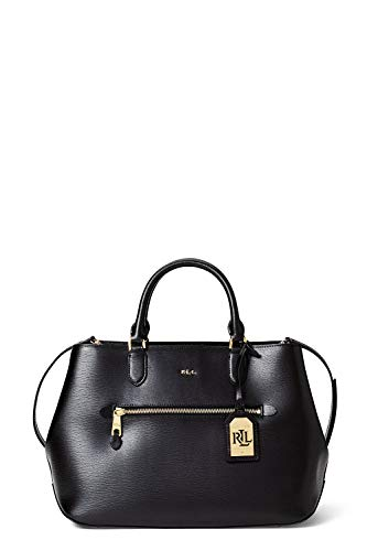 Ralph Lauren SABINE-SATCHEL-MEDIUM, color black