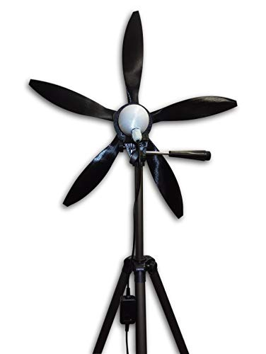 Cutting Edge Power USB Output Mini Wind Turbine, Made in USA, Portable, Camping, Beach, W Light (Tripod Mount (with Tripod), 5 Blade (18'))
