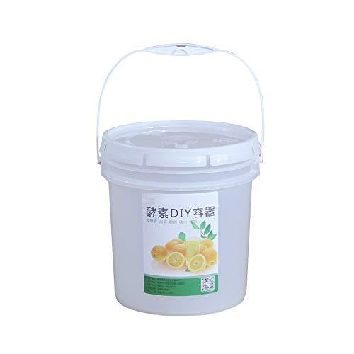 Tamkyo Cubo de Plástico de 5L para Fermentación de Vino Envase a Prueba de Fugas Fermentador de Cerveza con Grifo y Tapa Airlock