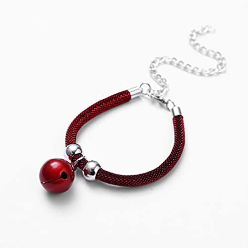 Bartholomew Collar con bonita campana ajustable cómodo collar suministros para mascotas para perro pequeño, gato gatito cachorro