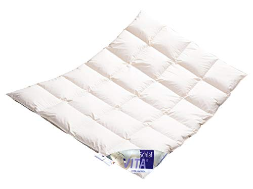 Vitaschlaf® Winter Daunendecke Daunenbett MEGA WARM Premium Decke WILDENTE Made in Germany Since 1947 Größe (135x200cm)