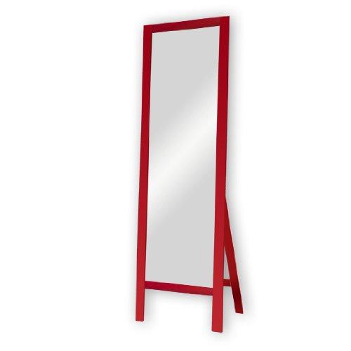 dreiBaum Standspiegel Life - Buche, rot lackiert