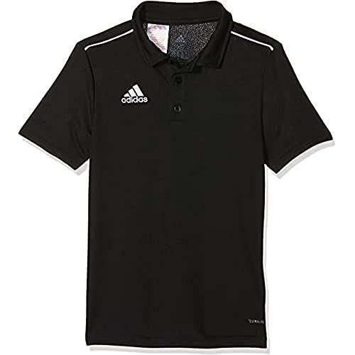 adidas CORE18 Camiseta Polo, Unisex niños, Black/White, 1516