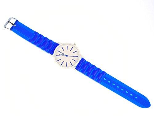 Miniblings Armbanduhr Herrenuhr Sportuhr HAU 40mm Damenarmbanduhr blau - Modeschmuck Handmade - Damen Mädchen Bettelarmband