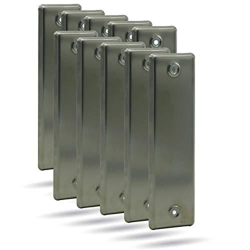 10er SET enrollador de apertura, apertura para persiana, acero inoxidable, cerrada LA 160 mm