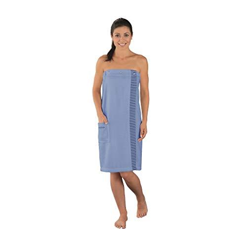 Schiesser Damen Saunakilt Rom, Farbe:hellblau