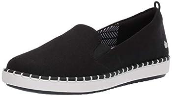 Clarks Women s Step Glow Slip Loafer Flat Black Canvas 070 M US