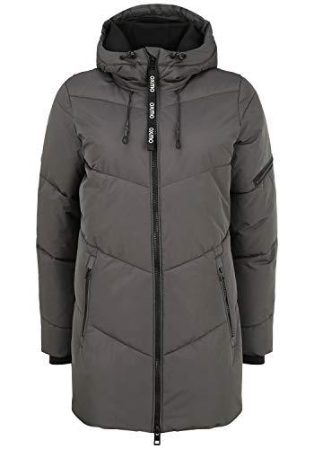 OXMO Junchen Damen Winterjacke Damenjacke Jacke mit Kapuze, Größe:L, Farbe:Iron Gate (193910)