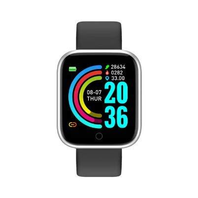 Reloj inteligente, pulsera de fitness, monitor de fitness,Y68, resistente al agua, reloj de fitness con pulsómetro, podómetro, reloj de pulsera para hombre y mujer, reloj deportivo para iOS y Android