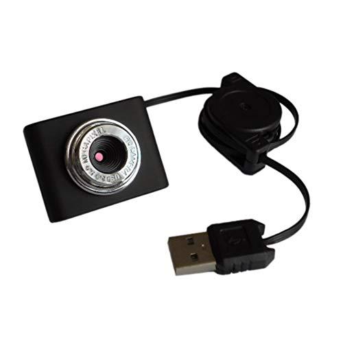 Jullyelegant 8 Milioni di Pixel Videocamera per Mini Webcam HD Web Web con Microfono per Laptop Desktop USB Plug And Play per videochiamate - Nero