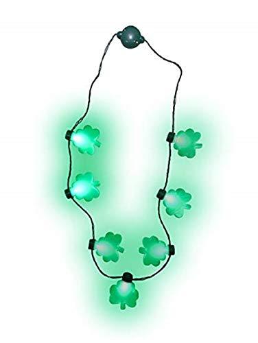 The Electric Mammoth Set of 6 LED Light Up Shamrocks Necklace Pendants (Shamrocks)