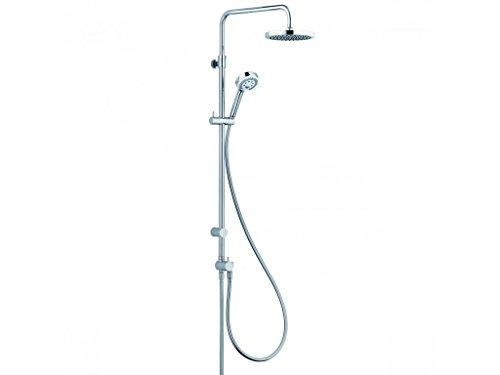 KLUDI Logo 680910500 Dual-Shower-System, Chrom/weiß, 4 Stück