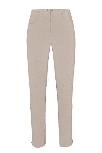 Stehmann-Stretch LOLI 742-mit EXTRA-Fashion Armreif-viele Farben-Wie Ina 740 nur unten Enger-Schmale Pullon Hose mit Schlitz, Hosengröße:34, Farbe:Kalk