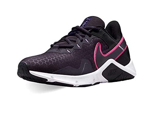 Nike Legend Essential 2, Zapatillas Deportivas Mujer, Black Hyper Pink Cave Purple Lilac, 40 EU