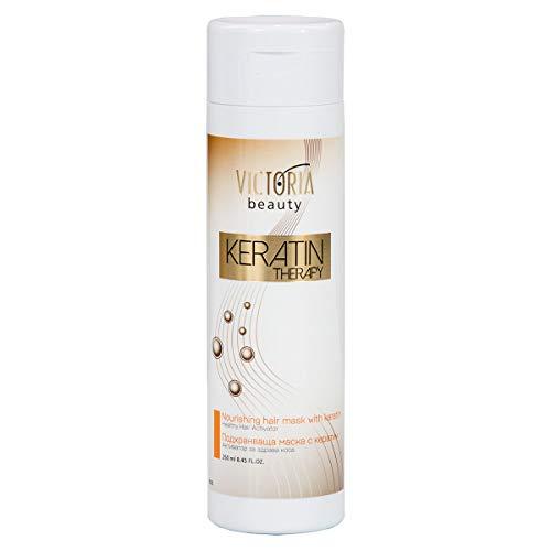 Victoria Beauty - Haarmaske, Keratin Haarglättung dauerhaft, Anti-Frizz Haar Maske für Frauen- für beschädigte und behandelte Haare (1 x 250 ml)