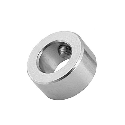 5 candados de tornillo, anillo de bloqueo de tornillo T8, accesorios de impresora 3D, adecuado para impresoras 3D, tornillo T8 de 8 mm, plata 8 (diámetro interior) * 14 (diámetro exterior) * 7 (ancho)