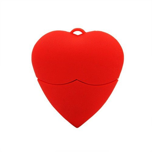 Cuore Amare Rosso 16 GB - Red Heart Love - Chiavetta Pendrive - Memoria Archiviazione dei Dati - USB Flash Pen Drive Memory Stick