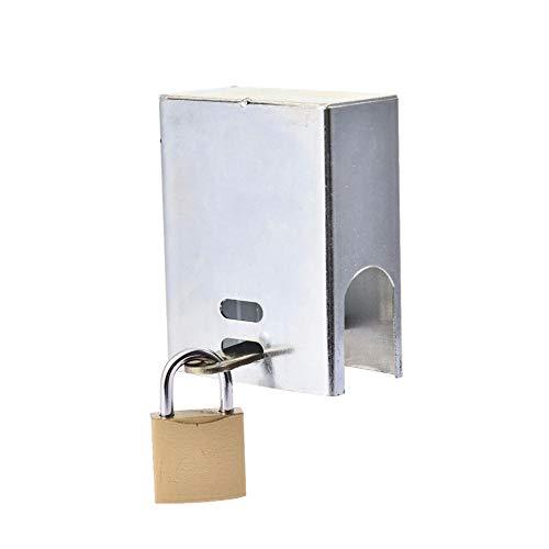 Candado para candado con llave para exteriores, manguera de jardín con aislamiento de hierro y cubierta y cubierta, evita el uso no autorizado y el vandalismo, y es fácil de instalar, 3.94x3.03x1.57in