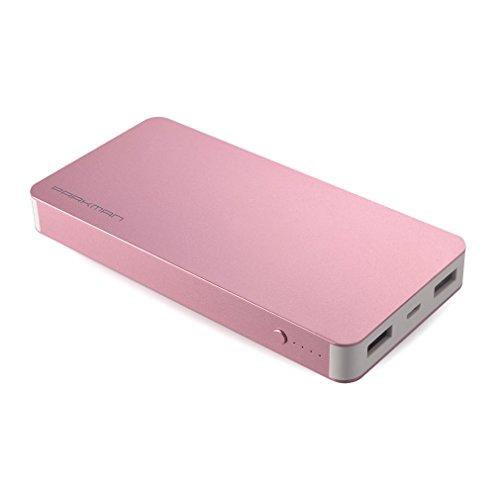 Power Bank, leshp Durable aluminio Metallic Case compacta 10000mAh batería externa cargador portátil Power Bank Fácil de transportar